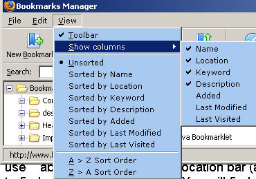 Manage Bookmarks