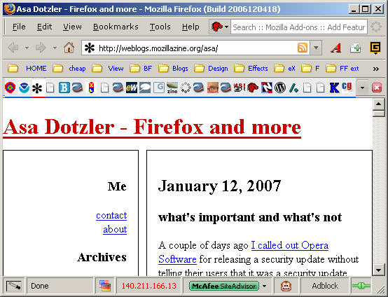Tabbed Browsing in Firefox